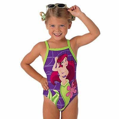 New Disney Ariel Racerback Swim Suit size 4-5 -- Free Shipping!
