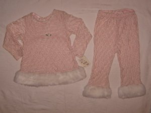 New Bebemonde 2-piece pant outfit for girl, size 3T