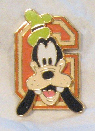 Disney Pins :  Block Letters - Goofy 'G' Pin