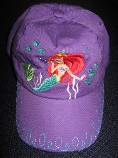 New Disney Store Cotton CAP - ARIEL for 3-4 year old girl