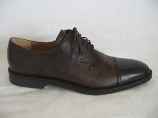$465 New in Box  Authentic GUCCI OXFORD Men SHOES size 9 1/2 D  9.5 D