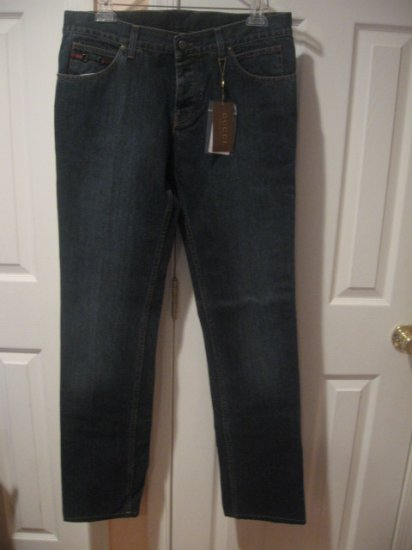 New with TAG Authentic GUCCI MEN JEANS with HORSEBIT size 34/50