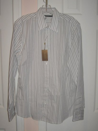 New with TAG Authentic GUCCI MEN's SHIRTS with LONG SLEEVES sz 16   /41 - FREE SHIPPING!
