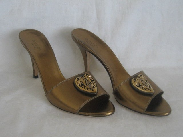 $535 New in Box Authentic GUCCI Women SHOES BABOUSKA Slides Heels size 6.5  6 1/2  B - FREE SHIPPING