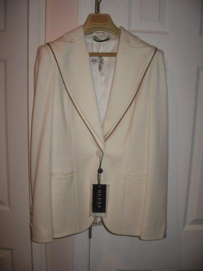 $2.5K New  Authentic GUCCI Women's  PANTS SUIT sz 42/40 Jacket/Pants  - FREE SHIPPING