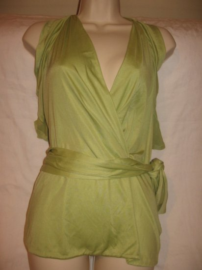 $795 New with TAG AUTH GUCCI WOMEN VARSATILE TOP HALTER WRAP sz 42 ITALY  6- FREE SHIPPING