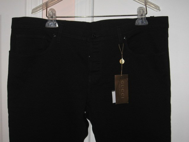 NEW with tags Authentic GUCCI MEN JEANS BLACK SUPER SKINNY size 58 / 42 - Free Shipping