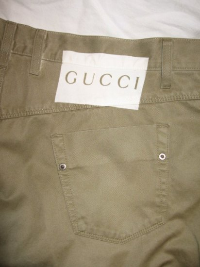 $525 NEW with tags Authentic GUCCI MEN PANTS size 52 / 36 - Free Shipping