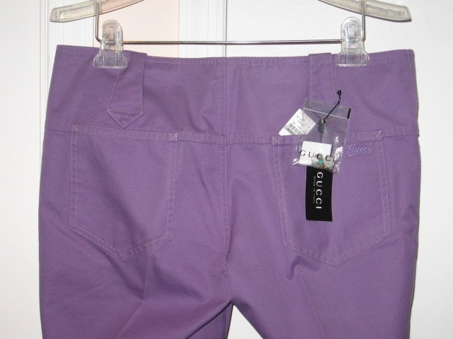 $490 NEW with tags Authentic GUCCI MEN PANTS PURPLE size 50 / 34 - Free Shipping