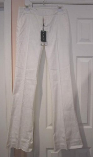 $645 New with TAG Authentic GUCCI WOMEN PANTS white sz 40 ITALY- FREE SHIPPING.