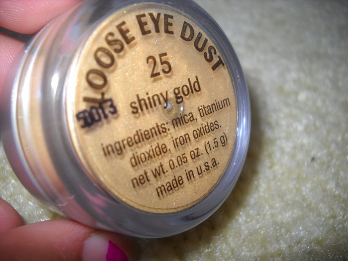 Loose Mineral Eyeshadow in Shiny Gold