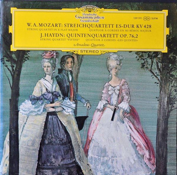 """Mozart: String Quartet in E Flat Major KV 428 Haydn: String Quartet Fifths Op 76 2 [Vinyl]"