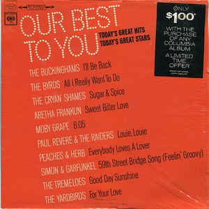 """""""Our Best To You: Today's Great Hits... Today's Great Stars [Vinyl]"""