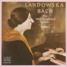 """""""J.S. Bach: The Well-Tempered Clavier Book 1 [Audio CD]"""