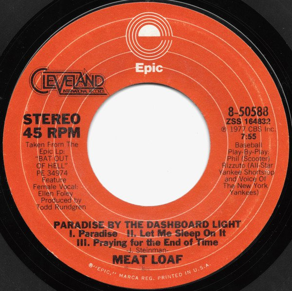 Paradise By The Dashboard Light / ''Bat'' Overture [Vinyl]