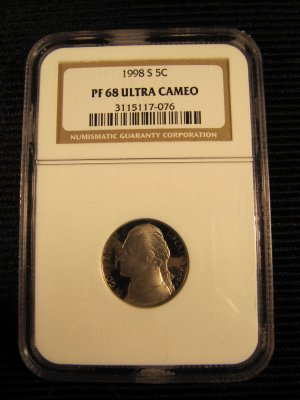 1998 S Jefferson Nickel Ultra Cameo Proof PR-68 NGC NICE!
