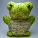 Kids GREEN FROG Animal Scrubby Sponge - Terri cloth & Sisal