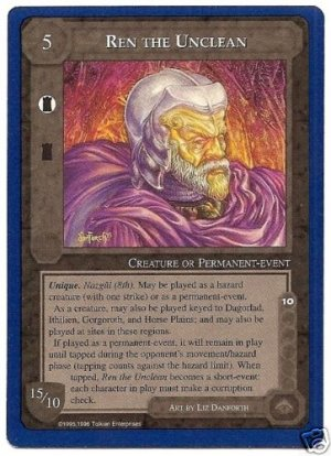 Ren the Unclean Nazgul MEtW Rare Unlim Middle Earth CCG