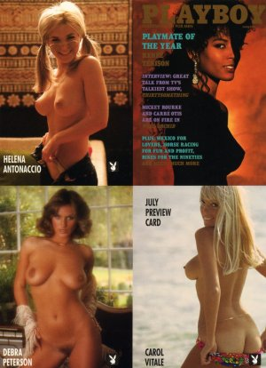 Playboy Centerfold Cards June Uncut 4-card Promo
