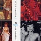Playboy Centerfold Cards February Uncut 4card Thom Wood
