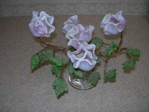 Vintage Glass Flowers