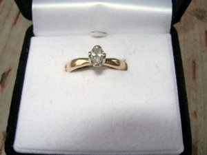 Beautiful Pear Shaped Diamond Engagement Ring-SALE