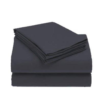 1000-TC Queen Sheet Set Dark Gray Egyptian Cotton