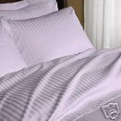 1200-TC King Sheet Set Lavender Stripe Egyptian Cotton Bed Sheets