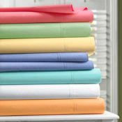 1000-TC Queen Sheet Set Egyptian Cotton Solid Butter
