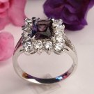 R0006 - RINGS WITH  AMETHYST CZ  CLEAR CZ (FREE SHIPPING)