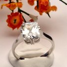 R0010 - RING WITH CLEAR CZ (FREE SHIPPING)