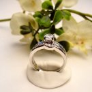 R0068 - RING WITH CLEAR CUBIC ZIRCONIA / WEDDING SET (FREE SHIPPING)