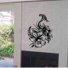 Wall flower  vinyl floral wall decal sticker living room wall decor