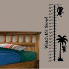 Kids wall decal growth chart with monkeys and watch me grow