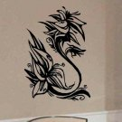 Abstract Hibiscus vinyl wall flower decal home decor