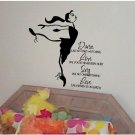 wall quote sticker decal Dance like no ones watching girls bedroom wall decor