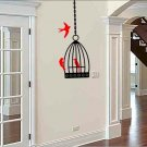 wall sticker decal bird cage with birds family room wall decor