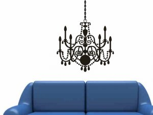 chandelier wall sticker decal living room bedroom wall decor