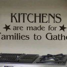 kitchen wall quote sticker decal kitchens are made for families to gather