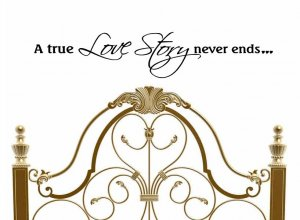 wall sticker decal love quote a true love story never ends master bedroom wall decor