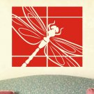 wall decal sticker abstract dragonfly wall decor panel