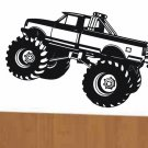 wall decal monster truck for kids bed room wall