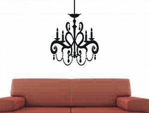 Chandelier wall decal sticker living room wall decor
