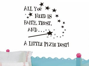 wall quote sticker decal all you need is Faith Trust and a