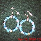 Large Turquoise & Cat Eye Hoops