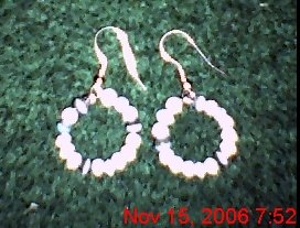 Varigated Cat's Eye Small Hoops