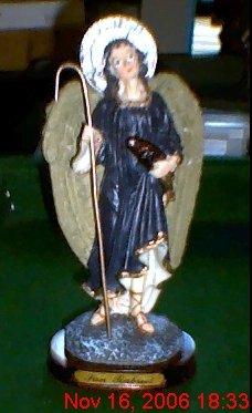 "8"" Resin Statue of St. Rapheal Archangel of Healing"
