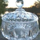 VINTAGE GORHAM FULL LEAD CRYSTAL CANDY DISH & COVER