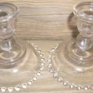 IMPERIAL GLASS CANDLEWICK CANDLE HOLDERS 400/80 PAIR!!