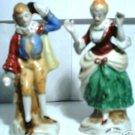 Occupied Japan Victorian Man & Woman Figurines
